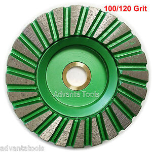 4 Turbo Diamond Cup Wheel 100 120 Grit For Granite Hard Concrete Grinding