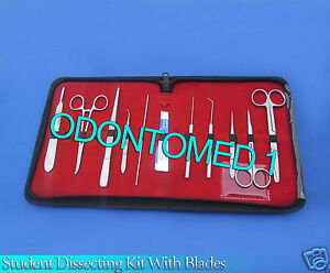 10 Pc Student Dissecting Dissection Medical Lab Instruments Kit Set 5 Blades 20