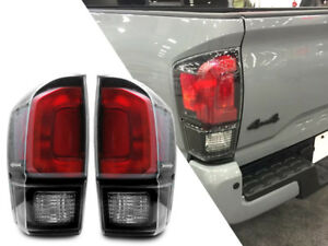 New Black Trd Pro Rear Tail Light Lamp Pair For 2016 19 Toyota Tacoma All Models