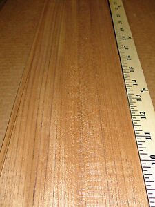 Teak Wood Veneer 5 X 109 With No Backing Raw 1 42 Thickness Flexible Flitch