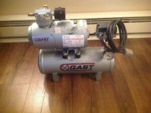 Gast 1hab 11t m100x Electric Air Compressor 1 6 Hp 2 gallon Tank Nice Shape