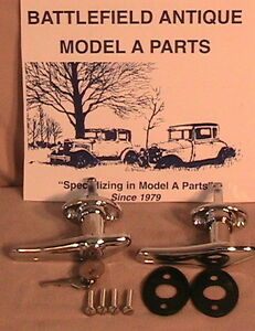 1928 1929 Model A Ford Complete Outside Door Handle Set