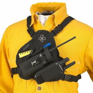 Coaxsher Scout Radio Chest Holder Strap Harness Rig Pack Holster For Walki Talki