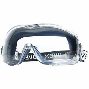 4 Pairs Uvex Lab Safety Goggles Anti scratch Fog Clear Lens Over The Glass Size