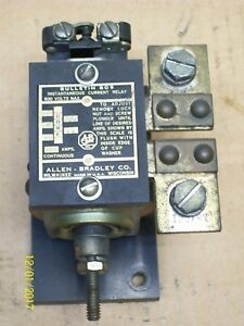 Allen Bradley 809 Instantaneous Current Relay 100a 100 Amp 600v X87001
