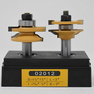 Sommerfeld Tools 02012 Ogee Chip free Rail Stile Set Router Bits