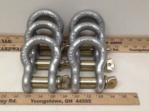 5 8 Clevis D Ring Bow Shackle Screw Pin Rigging Jeep Towing 3 25 Ton Wll 6 Pk