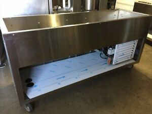 Duke Portable 6 Ft Refrigerated Cold Pan Food Serving Counter Salad Bar Cart