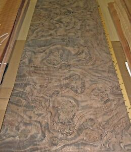 Walnut Burl Wood Veneer 17 X 40 Raw Veneer No Back 1 42 Thickness Aaa Grade