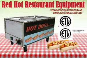 Fma omcan 17133 Commercial Concession Stand Hot Dog Steamer Cooker Fw Tw 3050