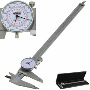Anytime Tools Dial Caliper 12 300mm Dual Reading Scale Metric Sae Standard