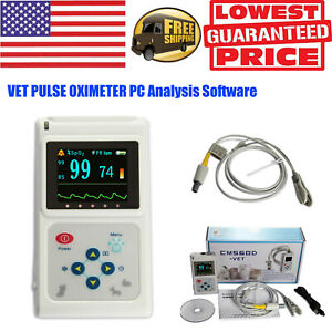 Vet Veterinary Pulse Oximeter Spo2 Monitor Pr Pc Analysis Software 1 8 Lcd