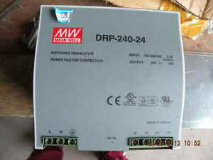 Mw Mean Well Drp 240 24 Switching Regulator Power Facto