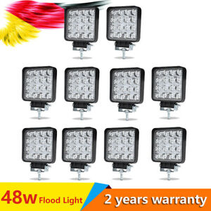 10x 48w Led Work Light Offroad 60 flood Driving Lamp For Boat Truck Ute Auto