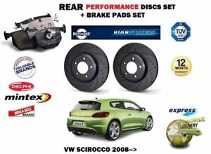 For Vw Scirocco R Tsi Tdi 2008 Rear Performance Brake Discs Set Pads Kit