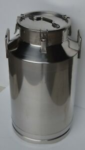 15 8 Gallon Stainless Steel Milk Pail 60l Wine Beer Liquid Storage Farm Supply