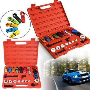 22pc Fuel Oil Transmission Line Disconnect Tool Kit Set New With Carry hold Case