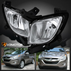 For 10 15 Hyundai Tucson Clear Bumper Fog Lights Driving Lamps W Bulbs Switch