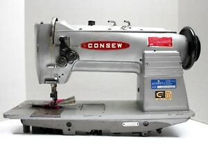 Consew 332 Needle Feed 2 needles 3 16 Gauge Industrial Sewing Machine Head Only