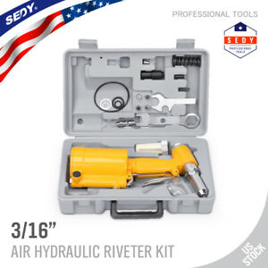 Pneumatic Air Hydraulic Pop Rivet Gun Riveter Riveting Tool W case 1 4 Inlet