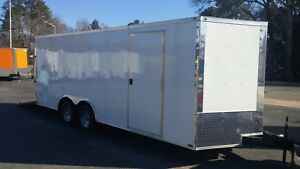 New 8 5 X 20 V Nose Enclosed Trailer Utv Rzr 4 Wheeler Ranger Atv