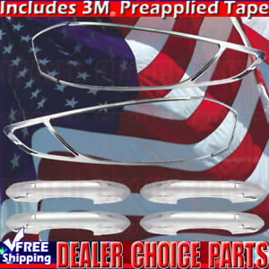 2013 2018 Ford Fusion Chrome Door Handle Covers Taillight Bezels No Smart Key