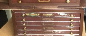 Vintage Antique Watchmakers Jewelers 6 Drawer Steel Cabinet Perfit Read Details