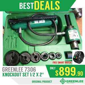 Greenlee 7306 Sb Knockout Set 1 2 X 2 Good Condition Free Watch Fast Ship
