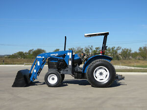 New Holland Tn 55 Tractor Loader 1000 Hours 1 owner See Video Shipping Avail