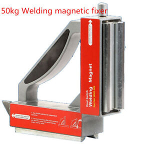 Heavy Magnetic Welding Jig Holder Welding Magnetic Fixer 50kg Dual Switch 90deg