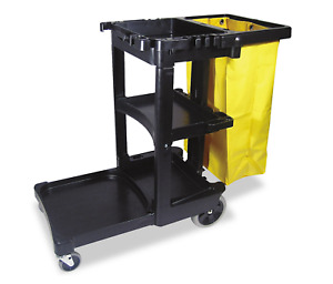 Janitorial Cart Hotel Housekeeping Cleaning Trolley Commercial Rolling Caddy New