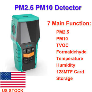 Us Stock Pm2 5 Pm10 Detector Tvoc formaldehyde Temperature Humidity Air Quality
