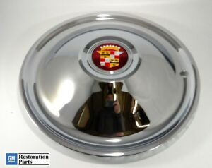 Single 16 Cadillac Sombrero Chrome Hubcap Hot Rod Rat Rod New Caddy Emblem