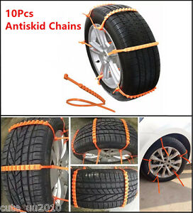 10 X Car Truck Snow Wheel Tyre Tire Antiskid Chains Slip Chains Thickened Tendon