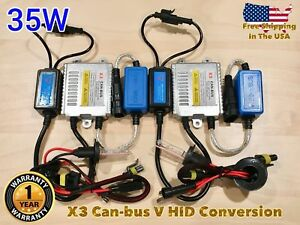 Low Beam 9006 Hb4 35w X31 Canbus Hid Xenon No Error Slim Kit For Gm Dodge Ford A