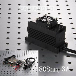 808nm 3w 3000mw Ir Laser Dot Module ttl analog 0 30khz tec Cooling 85 265v Power