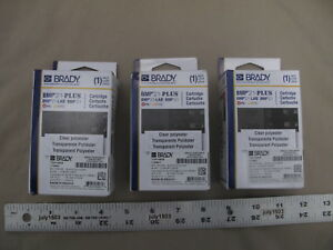 3 New Brady Label Cartridge M21 750 430 Black clear Polyester 3 4 X 21 Bmp21
