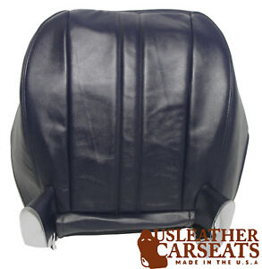 2001 2002 Chevy Express Van Driver Bottom Synthetic Leather Seat Cover Dark Blue