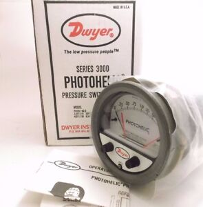 Dwyer Photohelic 3002 Pressure Gauge 0 2 Inches 4 Size 25 Psi Prepaid