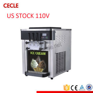 Us Stock Soft Serve Ice Cream Machine 110v