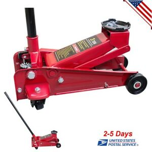 3 Ton Heavy Duty Steel Ultra Low Profile Floor Jack Rapid Pump Show Car Lowrider