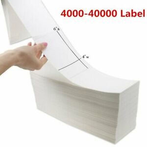 Fanfold 4 X 6 Direct Thermal Barcode Label Zebra Compatible Free Shipping