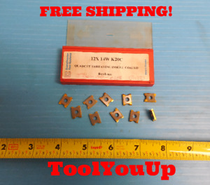 10 Pcs New Quadcut Threading Inserts 12x 14w K20c Milling Turning Boring