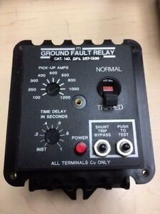 Iti Ground Fault Relay Gfl 257 1200 Pick Up Amp 100 1200 Time Delay Inst 1