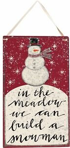 In The Meadow We Can Build A Snowman Wood Glitter Sign Primitives By Kathy
