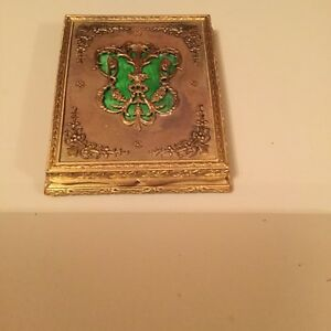 Antique French Gilt Bronze With Enemal Detail Box 19th Century