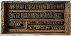 Antique Printing Letterpress Printers Cast Iron Block Letters And Numbers Set