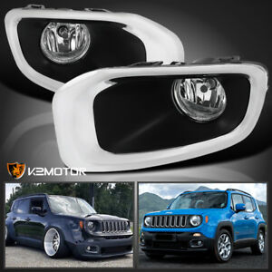2015 2017 Jeep Renegade Replacement Driving Lamps Bumper Fog Lights Pair Bulbs
