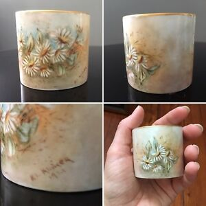 Antique Hand Painted And Signed Small Porcelain Cup 1921