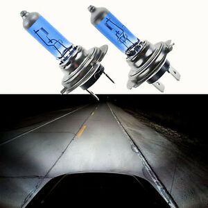 2 X Bright H7 100w 12v 6000k Xenon Gas Halogen Headlight White Light Lamp Bulbs